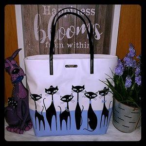 Kate spade jazz things up cat bon shopper tote bag